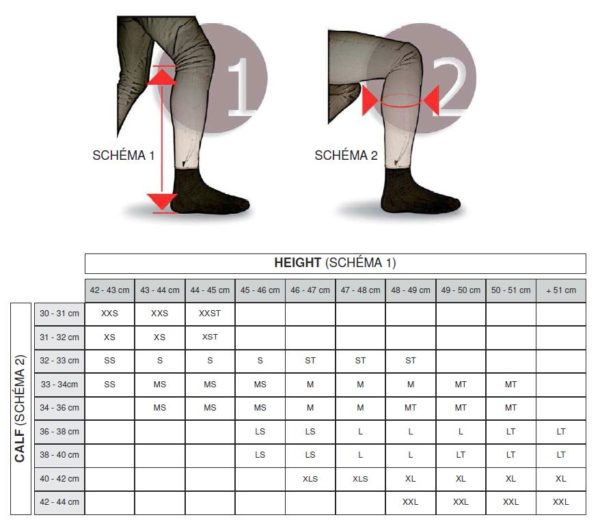 Free Jump Size Chart for Chaps