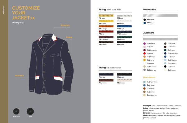 Equiline Men's Show Jacket - How to Customize