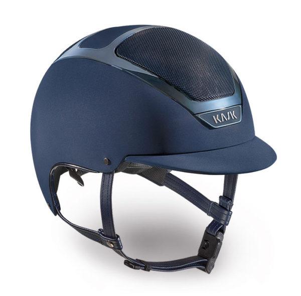 Kask Dogma Chrome Light Helmet in Navy with Navy Trim