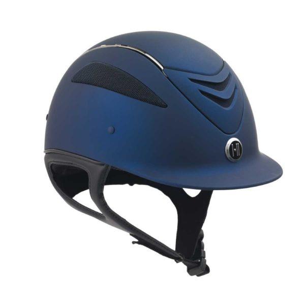 One K Defender Chrome Stripe Helmet in Navy matte
